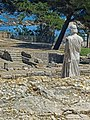 Remains of ancient Greek city of Neapolis with reproduction of Aesclepius at the archaeological site of Empúries.jpg