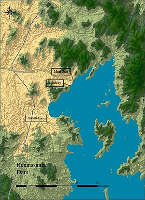 Grand Ethiopian Renaissance Dam - Renaissance Dam and associated facilities.