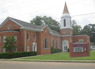 Lake Providence, Louisiana - First Baptist Church at 304 Davis Street in Lake Providence