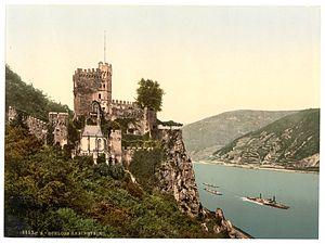 Rheinstein Castle - The castle in the last decade of the 19th century