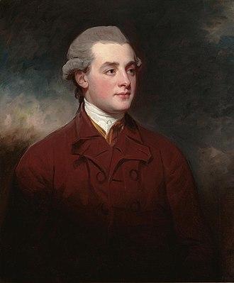 Richard Griffin, 2nd Baron Braybrooke - Richard Aldworth Neville, portrait by George Romney.