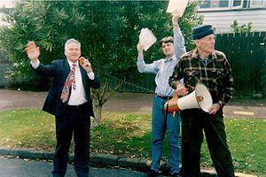 Richard Prebble - Prebble on the campaign trail in 1993