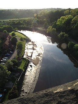 River Esk from Larpool Viaduct - geograph.org.uk - 1605149