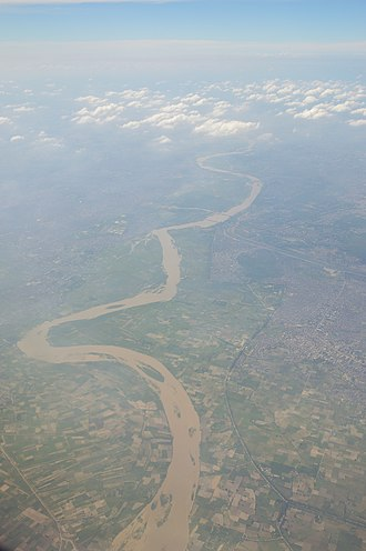 Hindon River - Aerial view of river Hindon, Ghaziabad