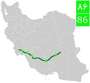 Road 86 (Iran) - Image: Road 86 (Iran)