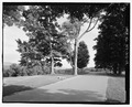 Road view of overlook parking area, NPS Route 10, View N. - Vanderbilt Mansion Roads and Bridges, Hyde Park, Dutchess County, NY HAER NY-317-12.tif