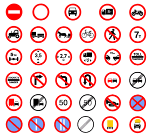 Prohibitory traffic sign - Prohibitory traffic signs in Russia