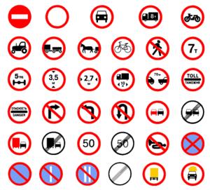 Prohibitory traffic sign - Prohibitory traffic signs in Russia