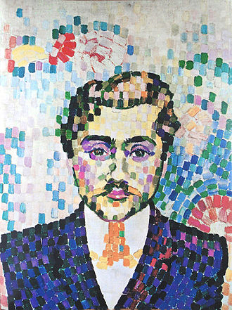 Robert Delaunay - Robert Delaunay, Portrait de Jean Metzinger, 1906, oil on canvas, 55 x 43 cm