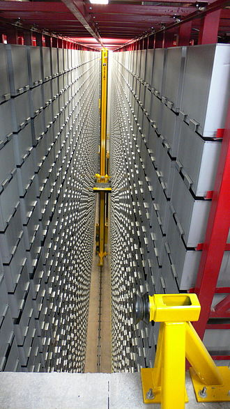 Automated storage and retrieval system - ASRS are also used in libraries allowing for greater safety when consulting and retrieving books.