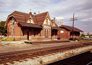 Metropolitan Subdivision - Rockville station in 1978, before it was moved away from the tracks