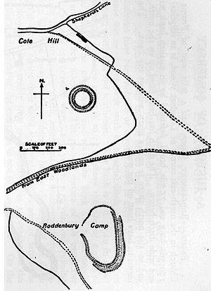 Roddenbury Hillfort - Plan of the site