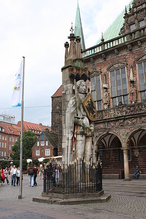 Bremen City Hall - Roland sculpture