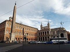 la erección del obelisco en piazza s pietro de