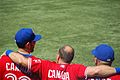 Romero, Vizquel and Villanueva hang out before anthems (7953270352).jpg