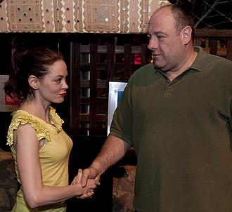 Rose McGowan - McGowan with James Gandolfini in Kuwait, March 31, 2010