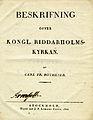 Rothlieb, Beskrifning öfver Kongl Riddarholmskyrkan (1822) titelblad.jpg