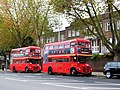 Routemasters on bus stand, High Street Kensington - geograph.org.uk - 3199595.jpg
