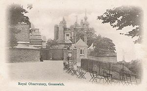 Royal Observatory, Greenwich - Royal Observatory, Greenwich c. 1902 as depicted on a postcard
