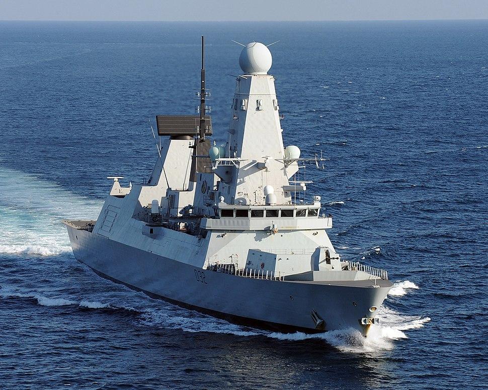 HMS Daring in 2012