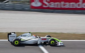 2009 Italian Grand Prix - Rubens Barrichello in the Brawn BGP 001