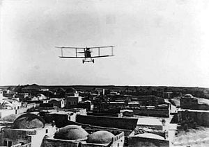 Rumpler C.I flying over Ramla c1915.jpg