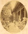 Russian Diplomatic Mission in Dongjiaominxiang, a Typical Chinese House with a Garden and Statuary, in the Legation Quarter of Beijing, 1874 WDL2115.png