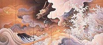 Hashimoto Gahō - Image: Ryūko zu Byōbu by Hashimoto Gahō(Part of the dragon)