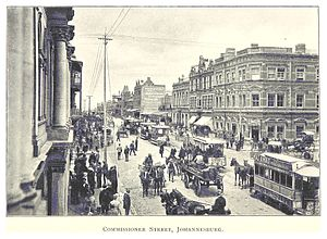 History of Johannesburg - Commissioner Street, circa. 1899