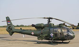 Serbian Air Force and Air Defence - A Serbian SA341 on display at Batajnica Air Show 2012