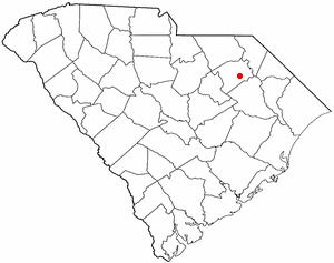 Darlington, South Carolina - Image: SC Map doton Darlington