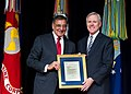 SECDEF presents SECNAV with a letter of appreciation. (8467239053).jpg