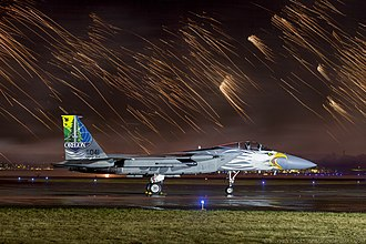 Oregon Air National Guard - 173rd Fighter Wing, Oregon Air National Guard 75th Anniversary Commemorative Paint Job, August 2016 at the Oregon International Air Show. – Photo by Stephen Fiddes, Portland OR.