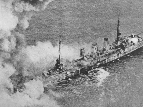 SMS Frankfurt burning