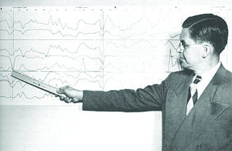 SRI International - SRI participant Paul Magill discussing the smog on Black Friday in Los Angeles at the first National Air Pollution Symposium in 1949