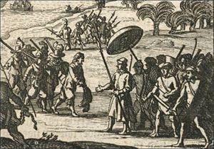 Sebald de Weert - Arrival of Sebald de Weert in Matecalo/Batticaloa