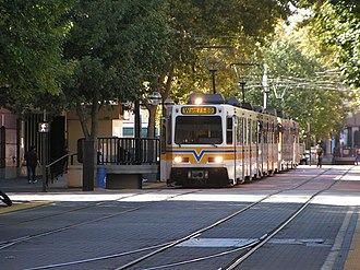 Sacramento Regional Transit District - Light rail stop at K Street Mall, Downtown Sacramento.