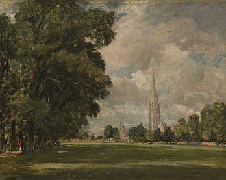 Dutch elm disease - Salisbury Cathedral from Lower Marsh Close, 1820, Andrew W. Mellon Collection, National Gallery of Art, Washington, D.C.