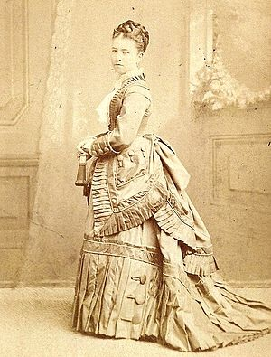 Sallie Fox - Sallie Fox in her wedding dress, 1873