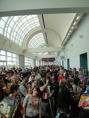 San Diego Comic-Con - Comic-Con crowd inside the second floor of the convention center in 2011 waiting for the exhibition hall to open.