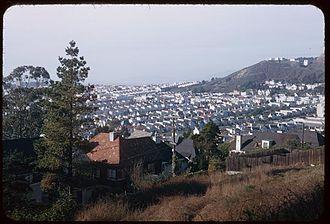 St. Francis Wood, San Francisco - Image: San Francisco Sea of houses north west of St. Francis Wood
