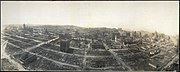 San Francisco in ruins view from Captive Airship above Folsom 1906
