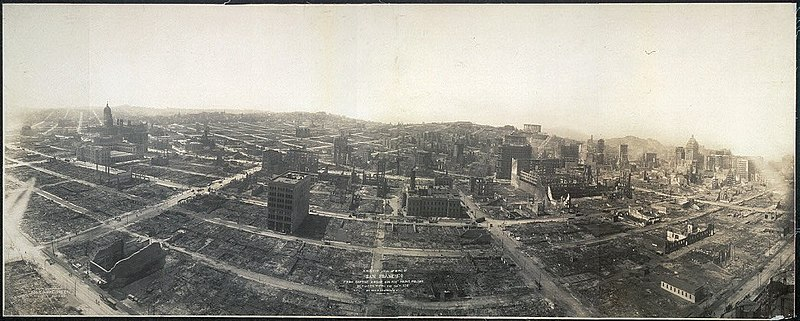 File:San Francisco in ruins view from Captive Airship above Folsom 1906.jpg
