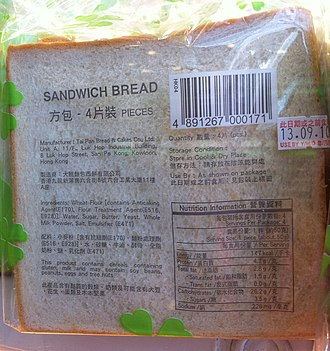 Sandwich bread - Image: Sandwich bread (cropped)