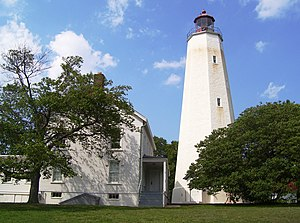 The Sandy Hook lighthouse, part of the Gateway...