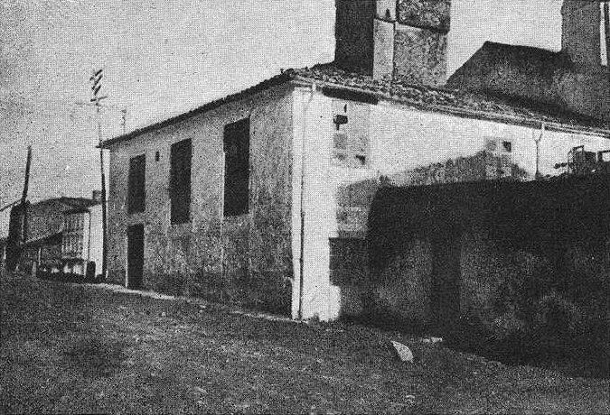 O Camiño Novo, onde naceu Rosalía. Fotografía publicada en Vida Gallega en 1917.