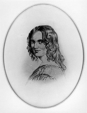 Sarah Fuller Flower Adams - Sketch of Sarah, after an 1834 sketch by Margaret Gillies