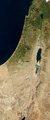 Satellite image of the Land of Israel in January 2003.