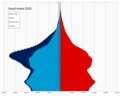 Saudi Arabia single age population pyramid 2020.png