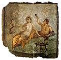 Scène de banquet, fresque, Herculanum.jpg